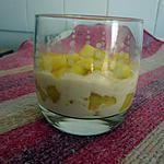 verrine de mascarpone aux pommes caramélisées