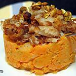 recette Parmentier croustillant de poisson à la patate douce, au fenouil et aux pistaches