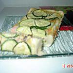 recette tarte courgette saumon fumé