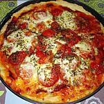 recette pizza jambon de parme-mozzarella et origan