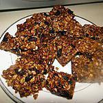 """recette Carrés """"granola"""" à la cardamome"""