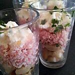 Mini-verrines apéritives champignons et créme de jambon