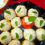 recette Pêche au thon, crabe, mayonnaise et menthe fraîche