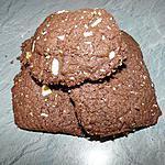 recette Cookies au chocolat et aux amandes