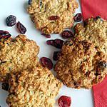 recette Cookies 'petit-déjeuner' aux cranberries