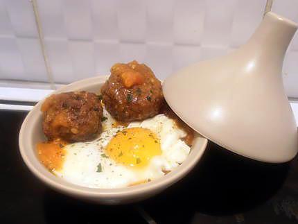 Recette de Mini tajine de kefta à l'oeuf (recette marocaine)