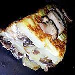 Terrine de pommes de terre, cèpes et foie gras