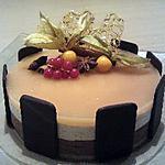 recette Entremet poire chocolat