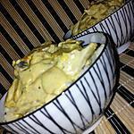 recette Sauté de porc au curry et lait de coco