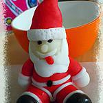 recette Père Noël en pâte à sucre