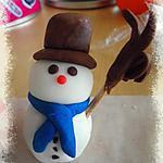 recette Bonhomme de neige en pâte à sucre