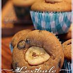 recette Muffins aux bananes, aux brisures de chocolat et dulce de leche