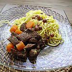 boeuf aux carottes et raisins secs