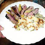 recette Magret de canard servi avec ses mangues