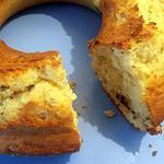 recette cake rond banane-choco-rhum