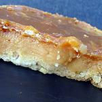recette Tartelette caramel nougatine de Mercotte
