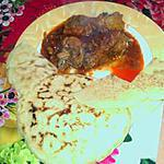 recette Galette à la farine et lait de coco.. Accompagner sauces de cuisse aux épices