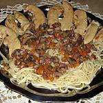 recette aiguillettes de poulet et sa sauce aux petits légumes