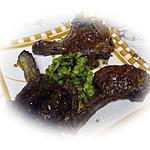 recette Côtelettes de cerf à la moutarde à l'ancienne et tagliatelles de courgettes