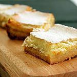 recette Lemon squares, carrés au citron
