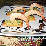 recette Crackers exotiques aux crevettes