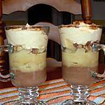 recette Verrines aux 2 chocolats et poires