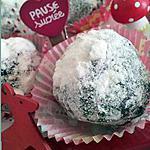 Truffes de neige au chocolat et son coeur meringué