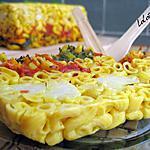recette Gâteau de pâtes et de légumes au curry