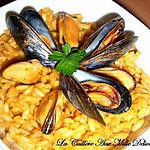 recette Risotto safrané aux moules