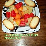 recette Verrines ananas-melon-pasteque