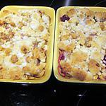 recette CRUMBLE POMME/POIRE /CANNELLE ET CRUMBLE POMME/POIRE/FRAMBOISES