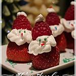 recette Fraises en père Noël