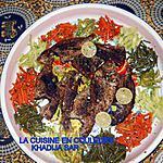 recette Poissons braisès sipy et ses accompagnments(carottes et haricots verts sautès,avocats,sauce moyo et mayonnaise)