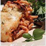 recette Macaroni long aux tomates et au fromage gratiné