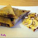 recette Bricks banane, chocolat, noisettes
