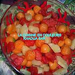 recette Salade de fruits(ananas,melon,pastèque)