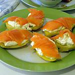 recette Bouchées au saumon fumé