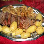 recette Rôti de porc aux poires