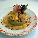 recette Délice d'avocat,crevettes et salsa de mangue