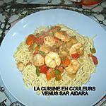 recette Spaghettis aux crevettes (1 ére version)
