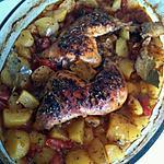 recette poulet aux pomme de terre aromatisé