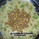 recette Spaghettis aux crevettes ( 2 éme version)