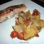 recette Pavés de saumon et ses petites pommes de terre rôties
