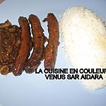 recette Riz blanc sauce merguez(1ére version)