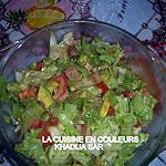 recette salade de crudités et de luncheon au poulet