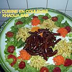 recette merguez sautés(accompagnement salade de crudités et frites)