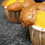 recette Petits muffins pêches, pécan, pralinoise