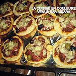 recette mini-pizzas au jambon