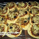 recette mini-pizzas au poisson et aux crevettes