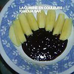 recette pommes sauce chocolat crunch(petit dessert pour une petite faim)